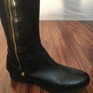 Black Clarks Shoes Riding Clark Leather Boots Poshmark y7r78q1EwO